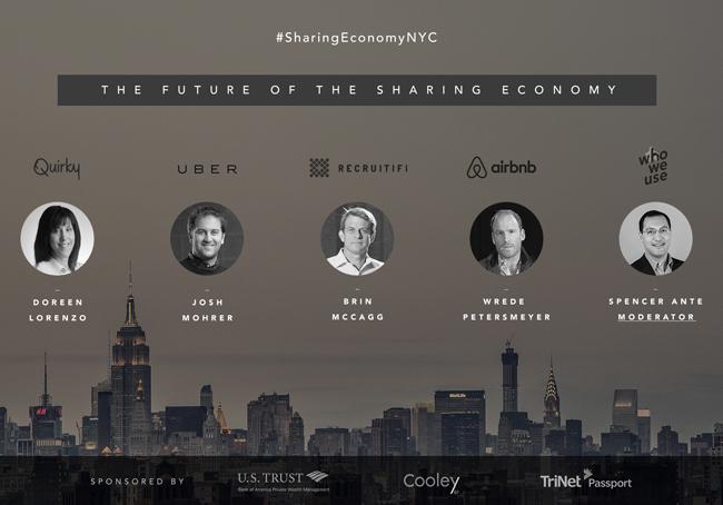 Sharing economy Uber Airbnb Recruitifi Quirky